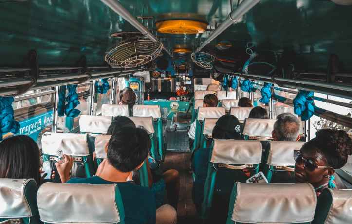 people sitting inside bus