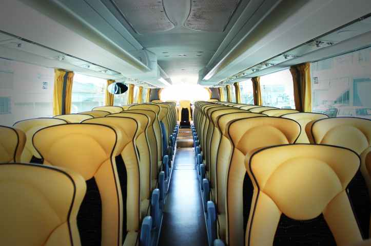 bus business chairs empty